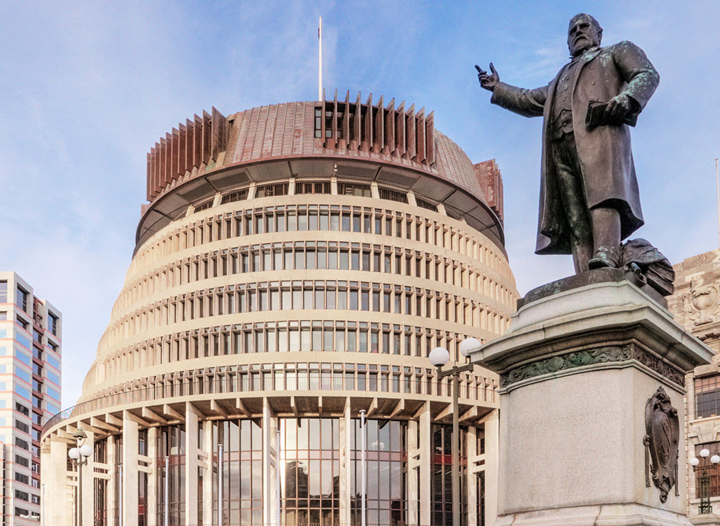 Beehive and statue - POLS homepage image