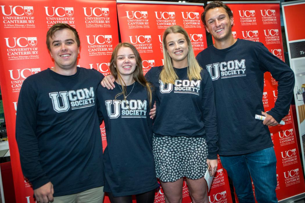 UCOM students in club tshirts at careers day