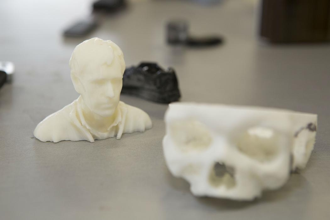 3D printed skull and bust