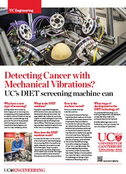 Detecting cancer with Mechanical Vibrations engineering poster