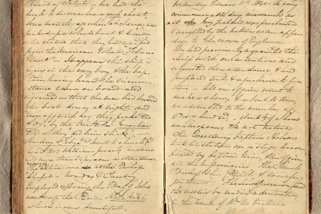 Hand-written journal from Comber papers