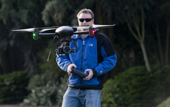 UC quadcopter helping in the Christchurch rebuild